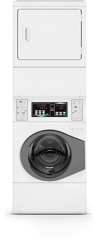 IPSO semi-commercial stacked washer-dryer