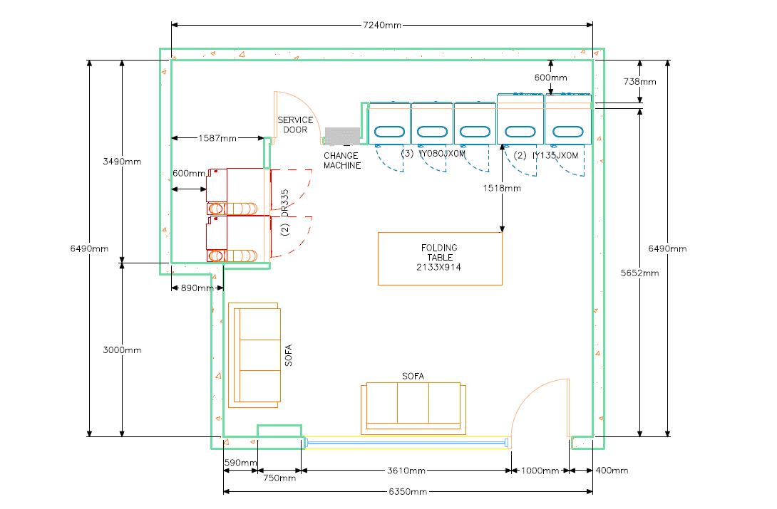 IPSO Laundry Preliminary Drawing Service